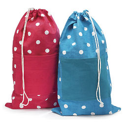 Polka Dot Laundry Bag