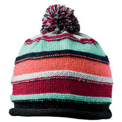 Women's Striped Mohair Knit Hat