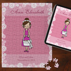 Personalized Flower Girl Jigsaw Puzzle