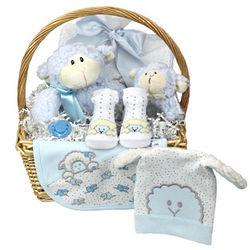 Baby Boy Gift Basket with Baa Baa Sheep