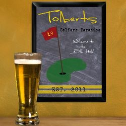 Personalized 19th Hole Golf Tavern Sign