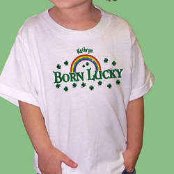 Born Lucky Personalized T-Shirt