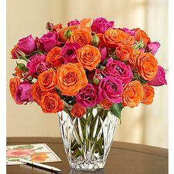 Charming Blooms in Waterford Vase