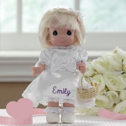 Precious Moments Blonde Personalized Flower Girl Doll