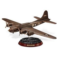 Memphis Belle WWII Plane Cold-Cast Bronze Sculpture