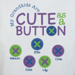 Personalized Cute as a Button Sweatshirt