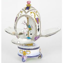 Musical Carousel Egg with Horse