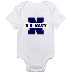 U S Navy Infant Bodysuit