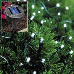 Solar Powered White Outdoor Christmas Lights