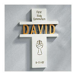 Personalized Communion/Confirmation Name Cross