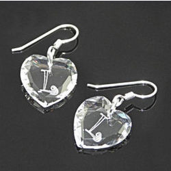 Monogrammed Swarovski Crystal Earrings