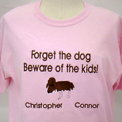 Beware of Kids Personalized T-Shirt
