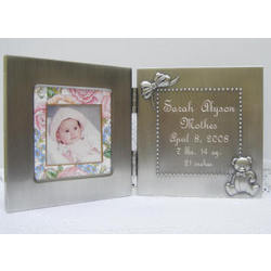 Personalized Hinged Baby Photo Frame