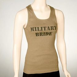 Military Bride Ribbed Tank Top