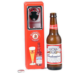 Vintage Budweiser Bottle Opener and Cap Catcher
