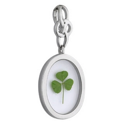 Shamrock in Resin Pendant