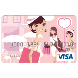 Shopping Visa $100 Gift Card