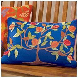 Tree of Life Folk Art Pillow