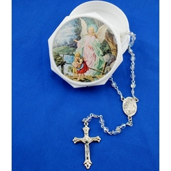 Guardian Angel Baby Crystal Rosary