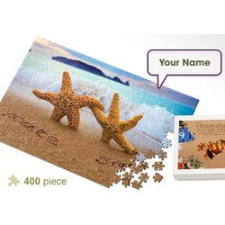 Personalized Starfish Couple Jigsaw Puzzle