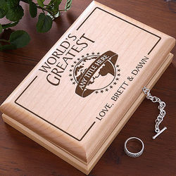 Custom Personalized Wooden Valet in World's Greatest Design