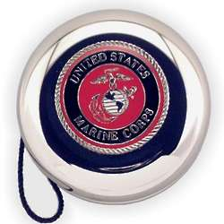 Engraved Marine Corps Nickel Plated YoYo