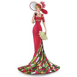 Coca-Cola Timelessly Refreshing Elegant Woman Figurine