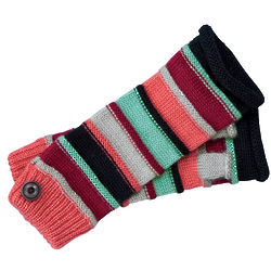 Women's Striped Mohair Knit Armcuff