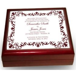 Personalized Wedding Keepsake Tile Box