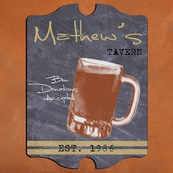 Vintage Mug Tavern Personalized Sign