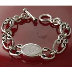 Personalized Sterling Silver Oval Link Bracelet