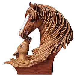 Bonds of Love Horse Sculpture