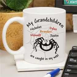 Personalized Caught In My Web Halloween Coffee Mug