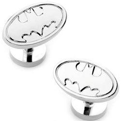 Silver Oval Batman Logo Cufflinks
