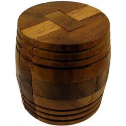 Winery Barrel Brain Teaser Wooden Puzzle