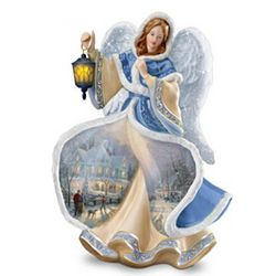 Winter Angel of Light Figurine