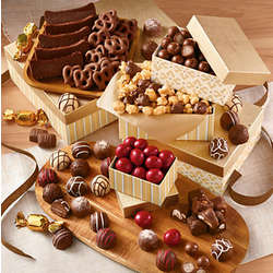 Tower of Chocolates Deluxe Gift Tower