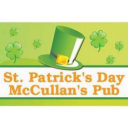 St. Patrick's Day Personalized Leprechaun Hat 24x36 Vinyl Banner