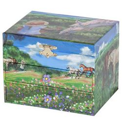Girl's Musical Horse Jewelry Box