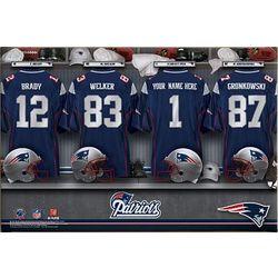 Personalized Canvas NFL AFC Locker Room Print