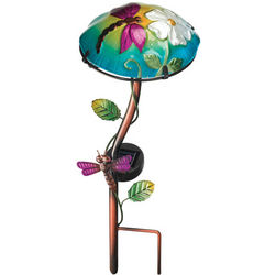 Dragonfly Mushroom Solar Powered LED Garden Light