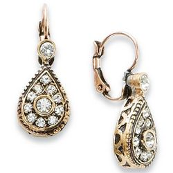 Aquitaine Antiqued Swarovski Earrings