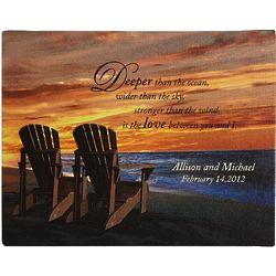 Personalized Beach Chair Canvas 11x14 Print
