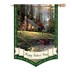 Thomas Kinkade Happy Father's Day Decorative Flag