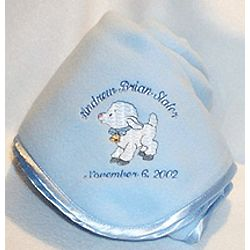 Personalized Little Lamb Crib Blanket