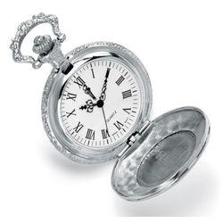Silvertone JFK Coin Pocket Watch