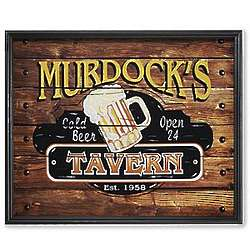 Small Personalized Framed Tavern Theme Canvas