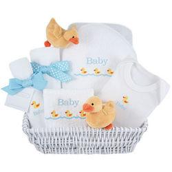 Yellow Ducks Luxury Baby Gift Basket