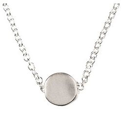 The Circle Necklace in Sterling Silver