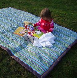 Earth Stripe Water Resistant Outdoor Blanket